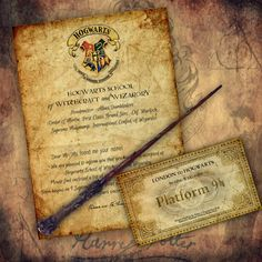 Personalized Hogwarts Acceptance Letter Harry Potter by rosaliks Harry Potter Letter, Harry Potter Gifts, Hogwarts Acceptance Letter, Hogwarts Letter, Party Themes, Vintage World Maps, Owl, Make It Yourself, Lettering