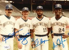 Rollie Fingers, Robin Yount, Cecil Cooper and Ben Oglive
