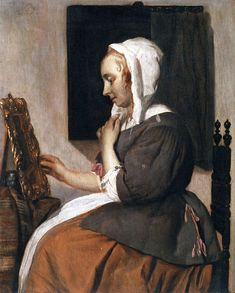 Gabriël Metsu - Vrouw aan haar toilet