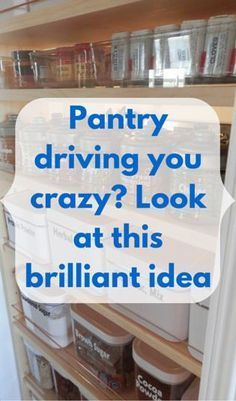 Pantry Driving You Crazy? Look At This Brilliant Idea