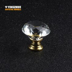 30mm 1pcs  Transparent Crystal Glass Diamond Knob Gold Base Metal Accessories Furniture Hardware Drawer Cabinet Handle - ICON2 Luxury Designer Fixures  30mm #1pcs # #Transparent #Crystal #Glass #Diamond #Knob #Gold #Base #Metal #Accessories #Furniture #Hardware #Drawer #Cabinet #Handle