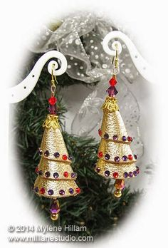 Are you ready for some bling? Combine leather and crystals to create these stunning Jewel Tree Earrings. Get ready to sparkle with these unique and beautiful holiday DIY earrings.
