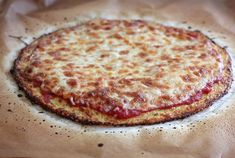 The BEST Cauliflower Crust Pizza! Grain-Free Cauliflower Crust Pizza makes one approx. 10-12 inch pizza #TheLuckyPennyBlog,