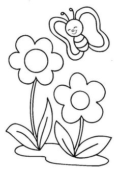 Spring Coloring Pages: Spring coloring sheets can actually help your kid learn more about the spring season. Here are top 25 spring coloring pages free Applique Templates, Applique Patterns, Applique Designs, Quilt Patterns, Embroidery Designs, Spring Coloring Pages, Flower Coloring Pages, Colouring Pages, Coloring Books