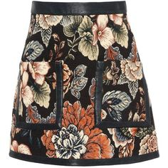 Stella Mccartney Jacquard Tapestry Gemma Skirt ($555) ❤ liked on Polyvore featuring skirts, mini skirts, multicolour, short skirts, floral miniskirts, floral print skirt, floral skirts and multi color skirt