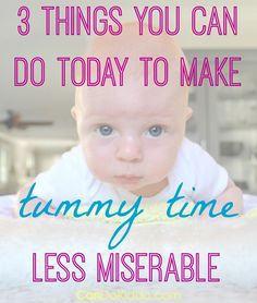 3 simple changes you can make today to help your baby enjoy Tummy Time play. CanDo Kiddo