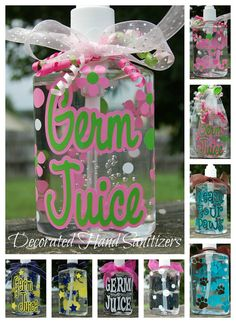 Decorated Personalized Hand Sanitizers  Great by lyricalletters, $8.00
