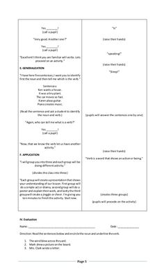 Detailed Lesson Plan in English 2 (Verbs) Grade 1 Lesson Plan, Daily Lesson Plan, Science Lesson Plans, Teacher Lesson Plans, Science Lessons, English Lesson Plans, English Lessons, Lesson Plan In Filipino, Word Reference