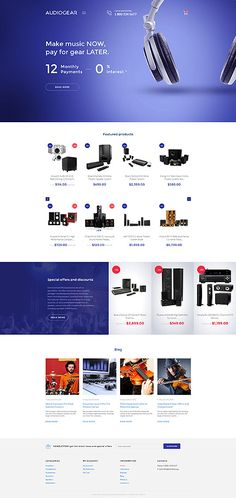 Professional Audio Gear Online Store #Shopify #template. #themes #business #responsive #webshop #Shopifythemes