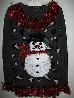Crew Neck Snowman Sweater | 21 MEN | #f21men | forever 21 | men ...