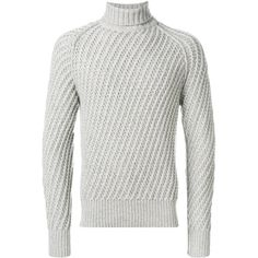 Tom Ford turtleneck sweater ($2,039) ❤ liked on Polyvore featuring men's fashion, men's clothing, men's sweaters, grey, mens gray turtleneck sweater, mens turtleneck sweater, mens grey sweater, mens grey turtleneck sweater and mens gray sweater