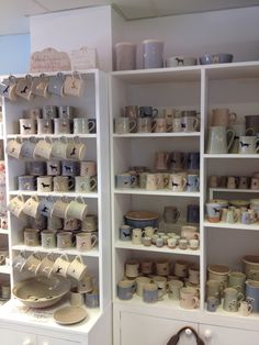 Lovely new Jane Hogben pottery filling our shelves! Each piece is hand thrown and hand finished in a small studio in Gerrards Cross. Mugs, jugs, bowls and more adorned with dogs, cats, chickens and flowers!