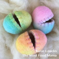 Wool felted Easter eggs 2018