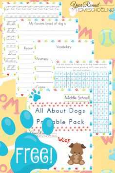 Free Dog Unit Study and Printables (Middle School) - Year Round Homeschooling