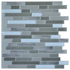 "Free Shipping. Buy Art3d Peel and Stick Wall Tile for Kitchen / Bathroom Backsplash, 12""x12"", Long Stone (6 Pack) at Walmart.com"