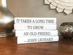 Decorative Books Friendship Quote Books Custom Book Covers | Etsy Friendship Gifts, Friendship Quotes, Friend Friendship, Quote Books, Book Quotes, Personalised Gifts For Friends, Personalized Gifts, Book Spine, Custom Book