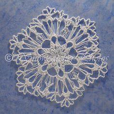 Ravelry: Lavender Snowflake pattern by Deborah Atkinson Crochet Snowflake Pattern, Crochet Stars, Crochet Snowflakes, Crochet Stitches Patterns, Thread Crochet, Crochet Motif, Crochet Doilies, Crochet Flowers, Free Crochet