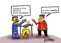 Aecio versus Dilma   Humor Político