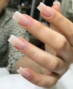 Fake nails french, long natural nails, classy nails, cute nails, hair b Classy Nails, Cute Nails, Pretty Nails, My Nails, French Manicure Acrylic Nails, Manicure And Pedicure, Long Natural Nails, Long Nails, Gorgeous Nails