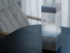 The Tempescope is an ambient physical display that visualizes various weather conditions like rain, clouds, and lightning.  By receiving weather forecasts from the internet, it can reproduce tomorrow's sky in your living room.
