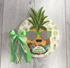 Personalized acrylic / plexiglass notebook / wishbook / keepsake tropical pineapple / summer / real mirror