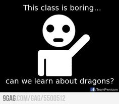 And this actually happened in my Speech class!