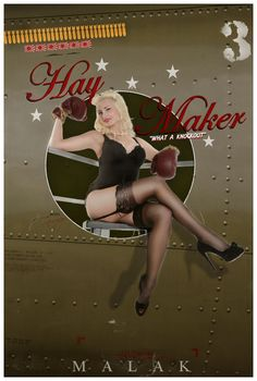 Pin Up Nose Art Style Photography by Michael Malak: Pin Up and Cartoon Girls