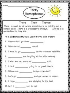 Check out this clever homophone mix-up reading passage! | Language ...
