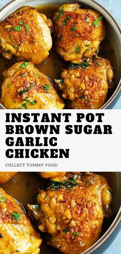 This amazing Crockpot Instant Pot Brown Sugar Garlic Chicken. Instant Pot Brown Sugar Garlic Chicken is delicious, healty. it's very tasty and easy to make Healthy Chicken Recipes, Easy Healthy Recipes, Pork Recipes, Crockpot Recipes, Cooking Recipes, Meatloaf Recipes, Ground Chicken Recipes Easy, Healthy Pressure Cooker Recipes, Instapot Recipes Chicken