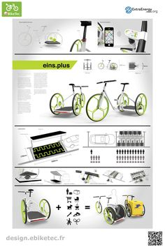 eBikeTec design contest category : eins-plus by Peter KUTZ E Mobility, Scooter Design, Bike Store, Cargo Bike, Mobile Design, Innovation Design, Motor Car, Bicycles, Public
