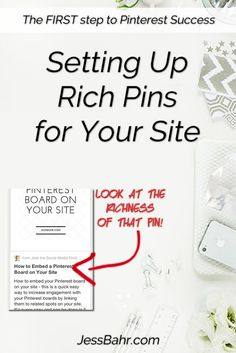 The very first thing you need to is setting up Rich Pins for your site.  It's way easier than you probably thing and only requires a few snippets of code!