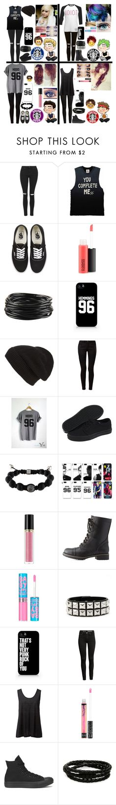"""""""Female versions of 5sos"""" by emmcg915 ❤ liked on Polyvore featuring Topshop, UNIF, Vans, MAC Cosmetics, Forever 21, Samsung, Phase 3, ONLY, Shamballa Jewels and Revlon"""