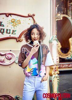 Hara roams the streets of Paris for 'Cosmopolitan' | allkpop.com
