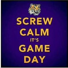 Lsu - I am anything but calm during a game