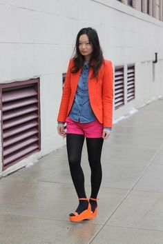 A little neon to chase away those winter blahs- CollegeFashionista X American Eagle Outfitters: Day 22 | College Fashionista