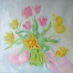 Кот Ирина. тюльпаны