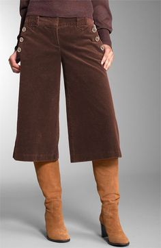 corduroy gauchos! I had some like that in the late 70s. Wore them with my camel tan, suede high heeled boots.
