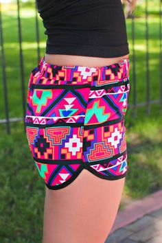 I tell ya im a southern prep clothes gal and i luv these tribal shorts