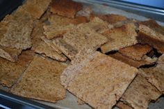 Sourdough Graham Crackers- I used 3 1/2 T molasses as the only sweetener, spelt instead of whole wheat, and doubled the cinnamon and added ground cloves. Delicious and more than sweet enough!