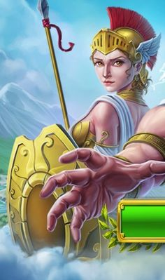Athena from Olympus Griddlers Opening Screen