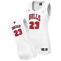 9963303f207 Women's Michael Jordan Authentic White Jersey: Adidas NBA Chicago Bulls Home