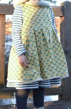 Hängerchen mit Unterkleid für Kinder - Schnittmuster und Nähanleitung via Makerist.de
