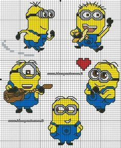 MINIONS PICCOLI SCHEMI PUNTO CROCE by syra1974 on DeviantArt