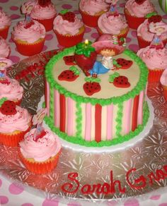 Strawberry Shortcake Cake and Cupcakes