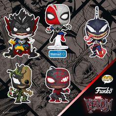 Funko's Venom Pop Collection Infects More Marvel Superheroes Marvel Venom, Pop Marvel, Captain Marvel, Captain America, Funko Pop Figures, Vinyl Figures, Ac Dc, Hot Topic, Venom Funko Pop