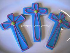decorative crosses Religious Cakes, Easter Religious, Easter Cookies, Sugar Cookies, Decorative Crosses, Crosses Decor, Cookie Time, Church Ideas, Cookie Decorating