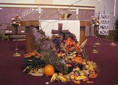 Thanksgiving church decorations