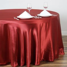 "108"" WINE Wholesale SATIN Round Tablecloth For Wedding Banquet Restaurant | eFavorMart"