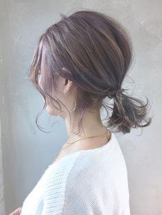 バレイヤージュカジュアルアレンジ_ba63373 - 24時間いつでもWEB予約OK!ヘアスタイル10万点以上掲載!お気に入りの髪型、人気のヘアスタイルを探すならKirei Style[キレイスタイル]で。 Short Hair Up, Hairdos For Short Hair, Short Hair Ponytail, Korean Short Hair, Ponytail Hairstyles, Shot Hair Styles, Hair Arrange, Hair Setting, Hair Color Balayage