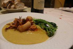 soul food : Purè di piselli con Calamari allo zenzero